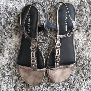 Franco Sarto Snakeprint Sandals